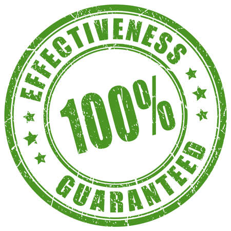 Effectiveness guaranteed vector stamp