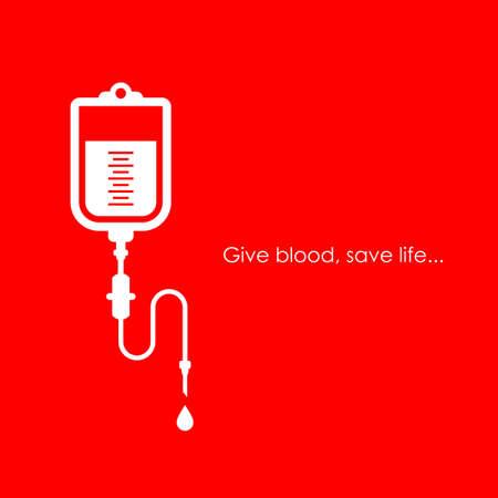 Dar sangre salvar vida cartel Ilustración de vector