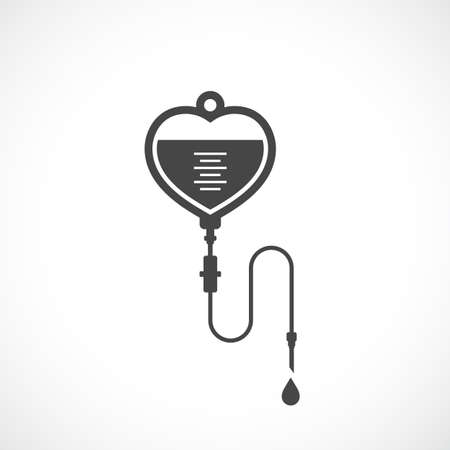Iv bag vector icon