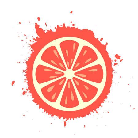 pomelo icono de la rebanada de la crema
