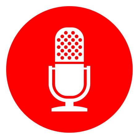 Microphone web round button Illustration