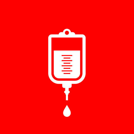 Medical blood dropper icon