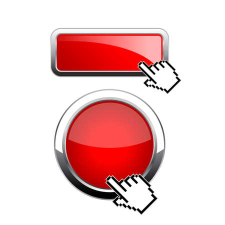 Red glossy web buttons