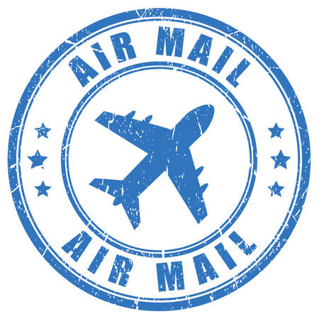 Air mail vector stamp