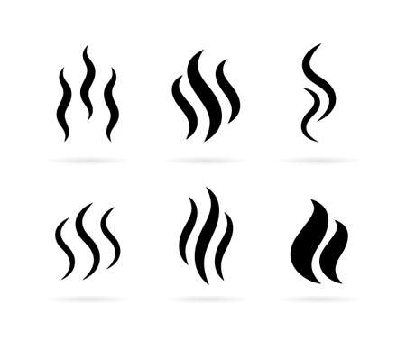 Hot steam vector icon Stock Illustratie