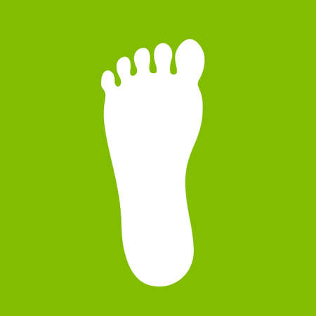 Foot print icon over green Illustration