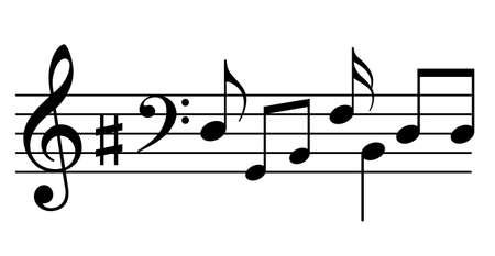 Muziek notenbalk en noten
