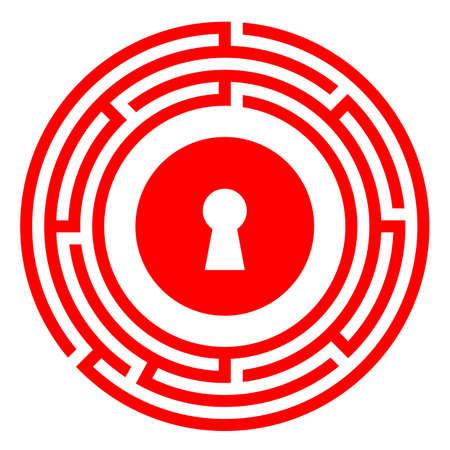 Escape room vector icon