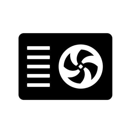 Outdoor air conditioner vector icon