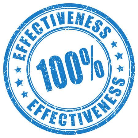 Effectiveness blue ink stamp