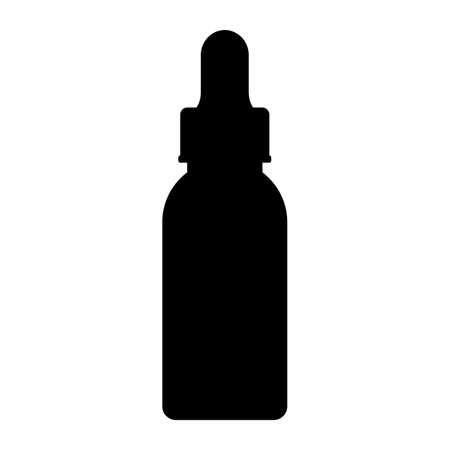 Drops bottle vector icon