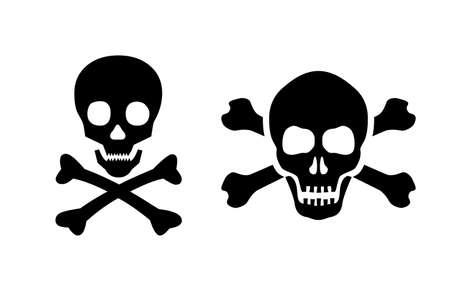 Skull vector icon set Ilustração