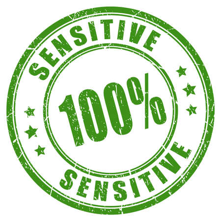 Sensitive vector stamp Illustration