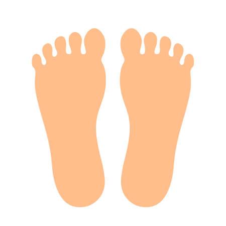 Ludzkie stopy wektor ikona Ilustracje wektorowe
