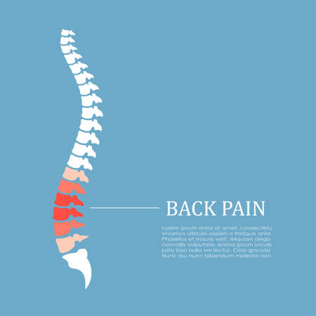 Back pain vector icon