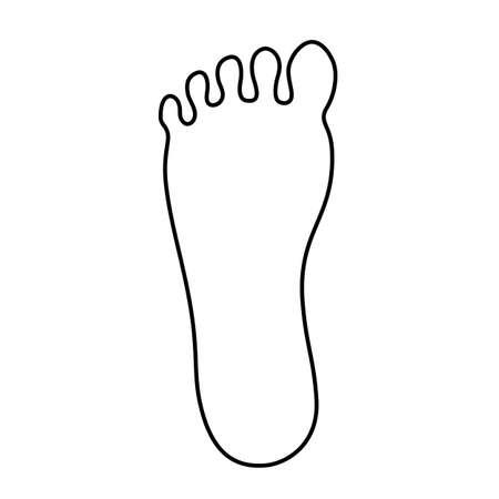 Human feet outline vector icon