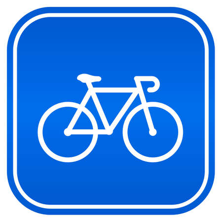 Bicycle vector sign Illustration