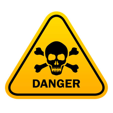 Triangle danger vector sign