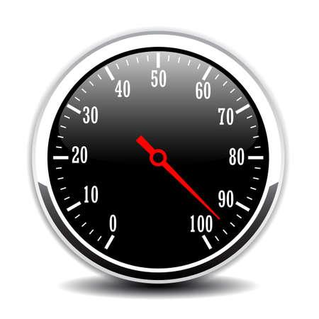 Speed meter vector icon Illustration