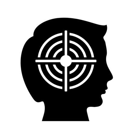 Shooting target and head silhouette Illustration