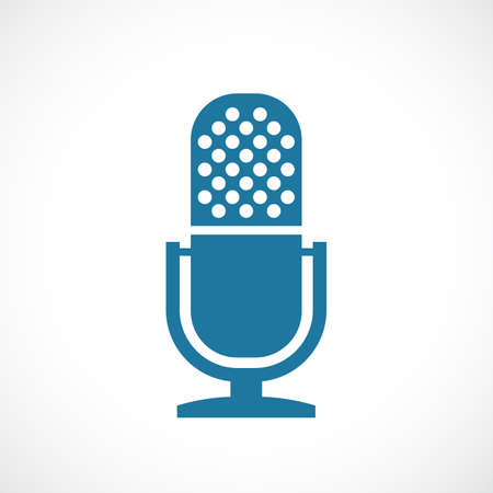 Old studio microphone vector icon