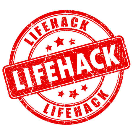 Lifehack illustration stamp