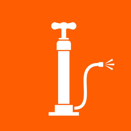 Air pump vector icon Illustration
