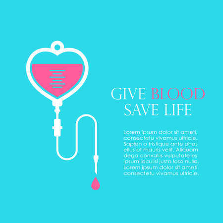 Donate blood and save life vector poster