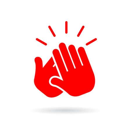 Icono de vector de aplauso