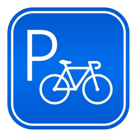 Signe de vecteur de stationnement de vélos