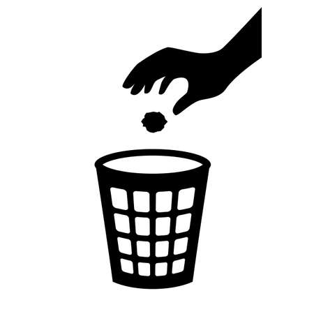 Use trash can vector pictogram
