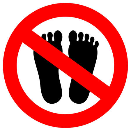 Do not step here vector sign 矢量图像