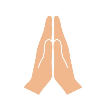 Namaste hands sign
