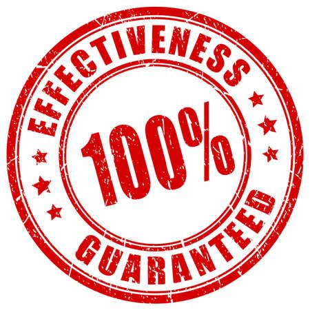 Effectiveness guaranteed vector stamp Vektorgrafik
