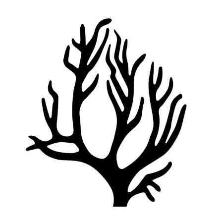 Coral silhouette icon