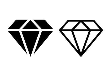Diamantkristall-Vektorsymbol