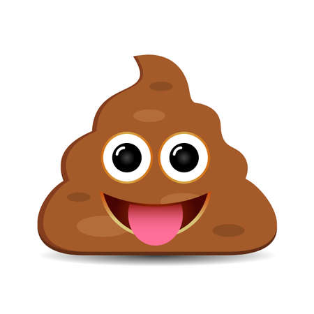 Happy foolish poo emoji Illustration
