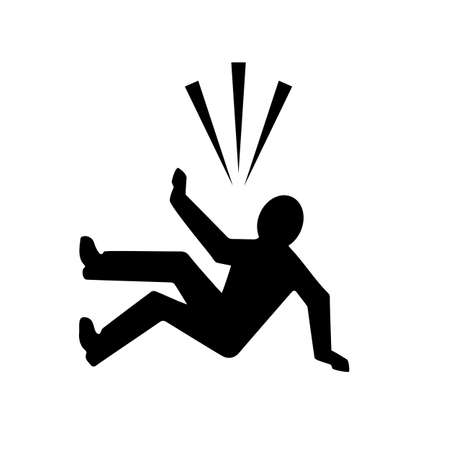 Falling person silhouette icon Ilustracja