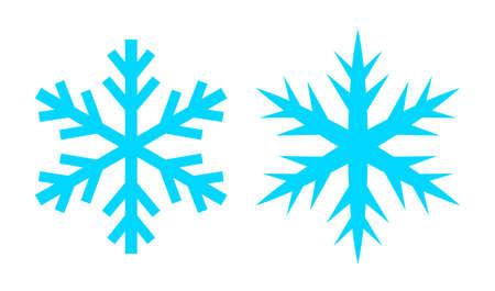 Snowflake vector icon set Фото со стока - 114185732