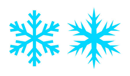 Snowflake vector icon set