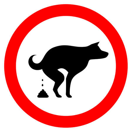 No dog fouling vector sign Stock Vector - 114185760