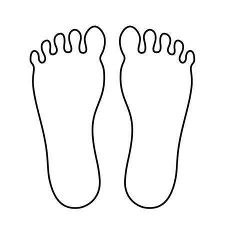 Human foot outline icon Illustration