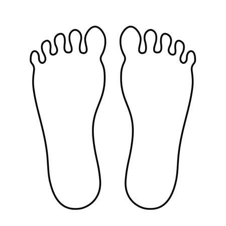 Icono de contorno de pie humano