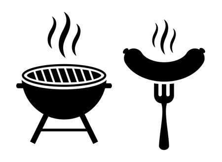 Icona di vettore della griglia del barbecue Vettoriali