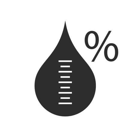 Luftfeuchtigkeitsvektorsymbol Vektorgrafik