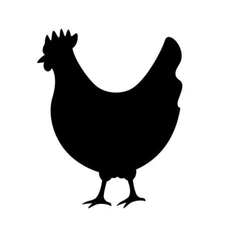 Chicken silhouette vector icon