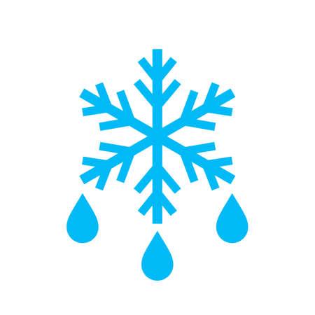 Icône de vecteur de dégel