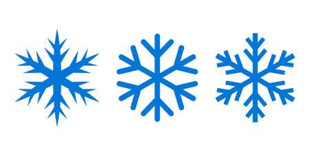 Icône de vecteur de silhouette de flocon de neige