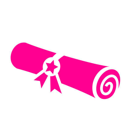 Rolled certificate icon