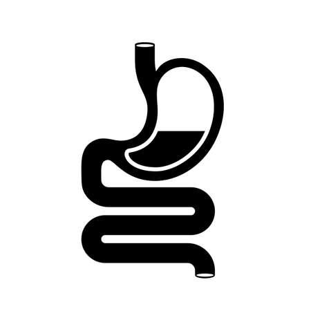Stomach black silhouette icon